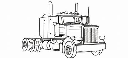 Coloring Truck Semi Pages Rig Trucks Printable