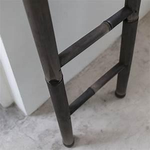 Echelle porte serviette en Bambou noir pour Salle de Bain