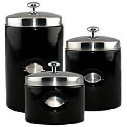 black kitchen canister sets amazon com black contempo canisters set of 3 kitchen storage and organization product sets