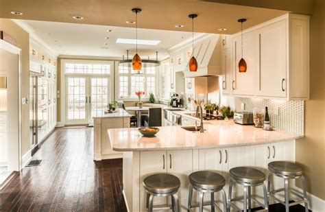 kitchen peninsula with seating curved seating peninsula transitional kitchen