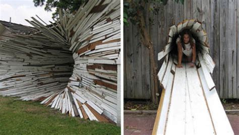 exploding tunnel house art installation project designs
