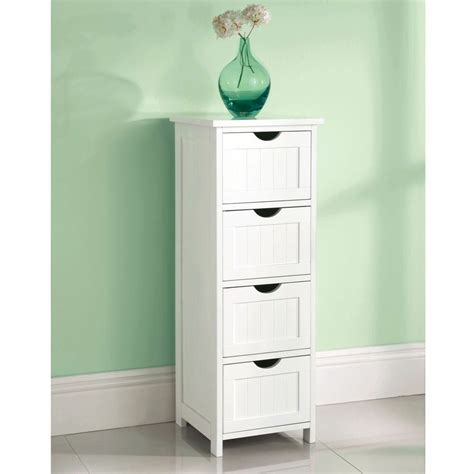 white wooden large  drawer  standing bathroom cabinet