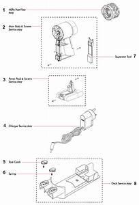 Dyson V6 Main Body Parts Diagram