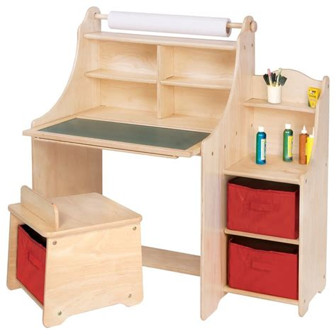 Toddler Desk With Storage by Guidecraft Artist Activity Desk Transitional
