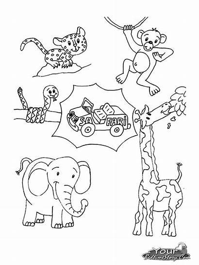 Safari Coloring Animals Pages Animal African Wild