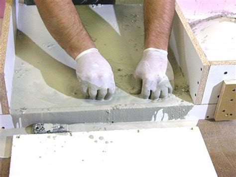 concrete bathroom sink diy how to build a concrete bathroom countertop how tos diy