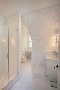 Deco Salle D Eau : papier peint salle de bain offrant la possibilit de personnaliser volont notre d co design ~ Teatrodelosmanantiales.com Idées de Décoration