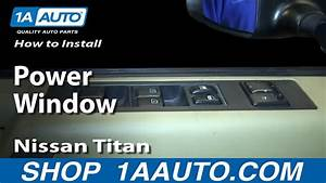 How To Install Replace Drivers Power Window Master Switch Nissan Titan