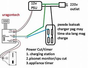 Charging Station With Timer Diagram