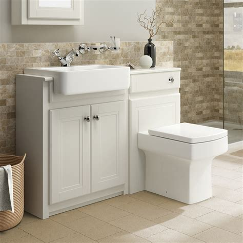 traditional bathroom vanity unit basin sink   wall