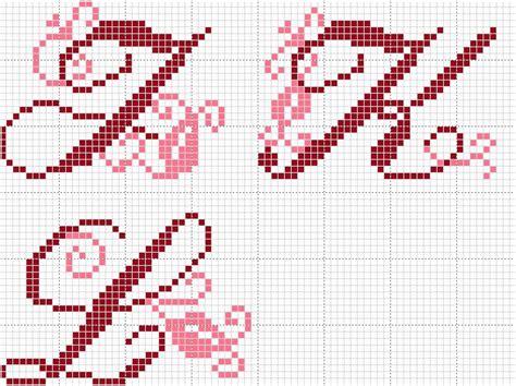 modele lettre point de croix gratuit grille gratuite de point de croix lettres j k l