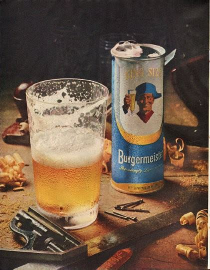 burgermeister beer vintage ad brewed  refreshing