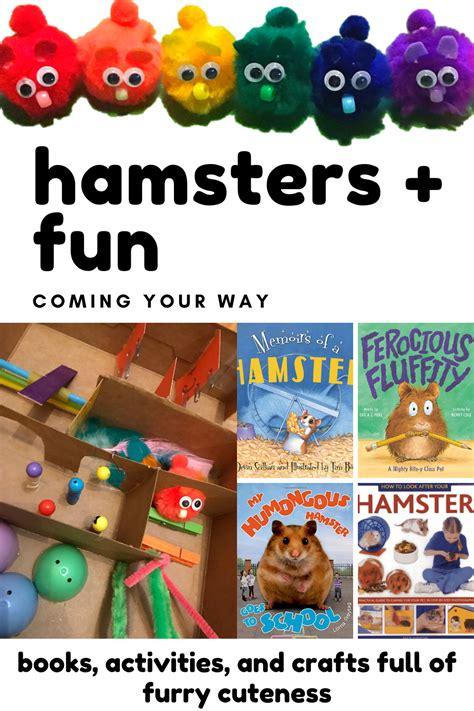 Hamster has thick, silky fur that can be uniformly black, grey, creamy, white, brown, yellow or red. Hamster Books and Crafts in 2020 | Preschool pet activities, Pets preschool, Crafts
