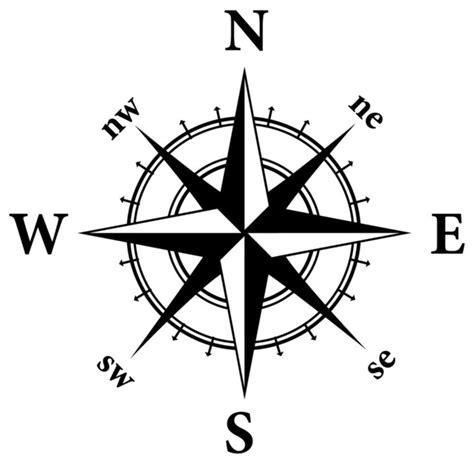 Compass Nautical Design Wall Decal - Contemporary - Wall