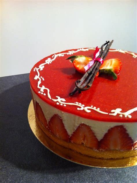 bavarois vanille fraises facon fraisier recette facile
