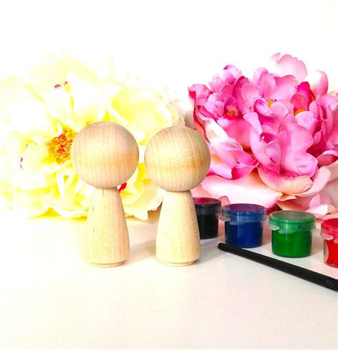 diy kokeshi wedding cake toppers do it yourself paint kit