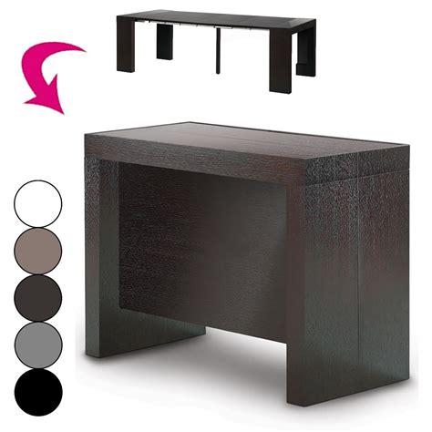 Table Console Extensible Avec Rallonges Integrees