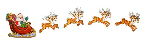 christmas clipart santa sleigh pencil and in color
