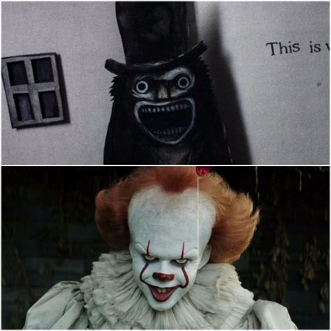 pennywise   babadook sitting   tree