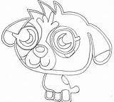 Monster Coloring Pages Moshi Monsters Printable Iggy Getdrawings sketch template