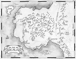 Blank Fantasy World Map Black And White