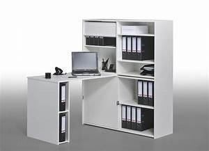 Bureau Avec Rangement : bureau avec rangement integre 14 bureau informatique contemporain avec rangement ch234ne ~ Teatrodelosmanantiales.com Idées de Décoration