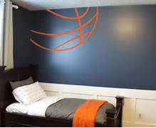 Sports Themed Bedroom Accessories Basketball Lines Wall Decal Trading Phrases