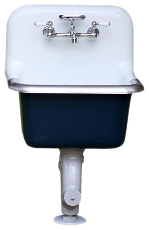 porcelain laundry utility sink consigned cast iron porcelain wall mount deep basin farm