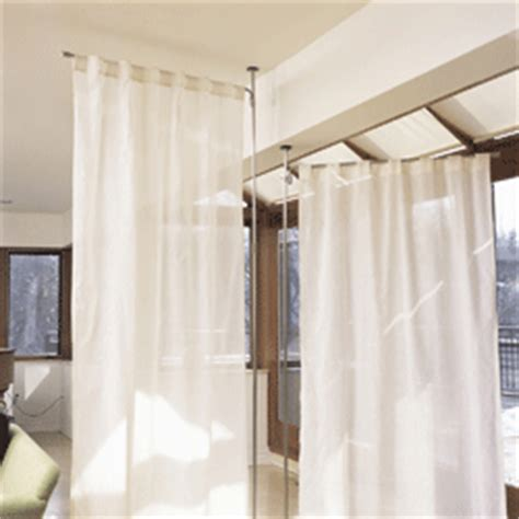 stand alone curtain panel holders floor to ceiling