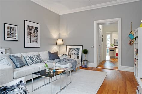 white walls with grey feature wall for the
