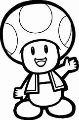 Coloring Pages Cartoon Mushroom Mario Super Bros Printable Mushrooms Getcolorings sketch template