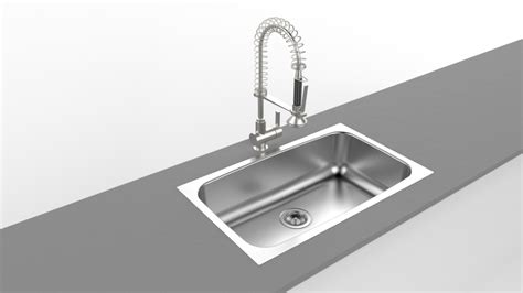 kitchen sink model kitchen sink render 3d cad model library grabcad 2790