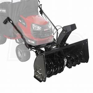 Craftsman  42 U0026quot   Two Stage Tractor Mount Snow Blower