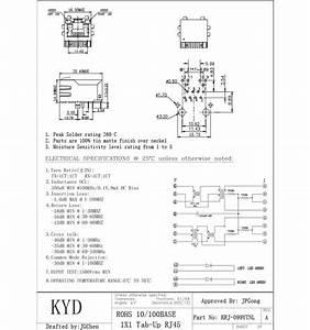 Rj45 Network Connector Pinout Details