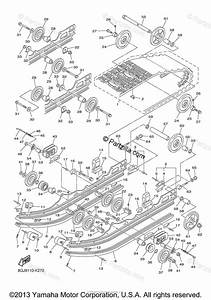 Yamaha Snowmobile 2011 Oem Parts Diagram For Track