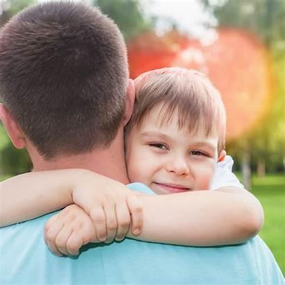 Hugging Dad Need Calm Covid Boy Shutterstock