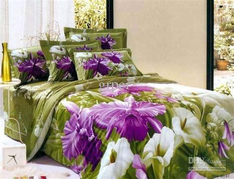 purple and green quilt purple green flower floral bedding comforter set