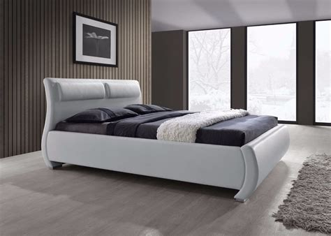 King Platform Bed With Fabric Headboard by Modern Platform Bed Frame King Queen Size Furniture