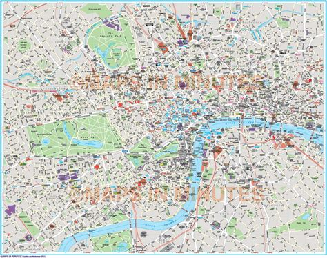 deluxe london city map  illustrator editable vector format