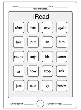 iread dolch st grade sight words worksheets