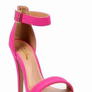 Neon Pink Ankle Strap Heels from LOVE MELROSE