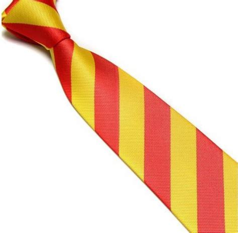 yellow  red striped club tie    fast uk