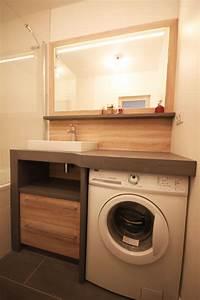 un lave linge dans une petite salle de bain atlantic bain With meuble lave linge