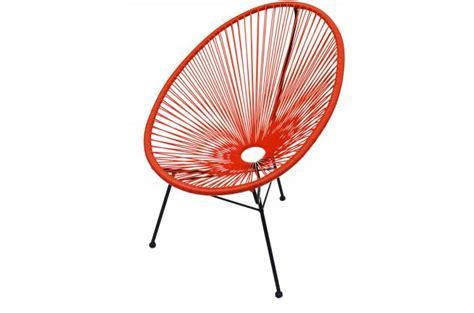 chaise acapulco pas cher fauteuil la chaise longue orange acapulco fauteuil