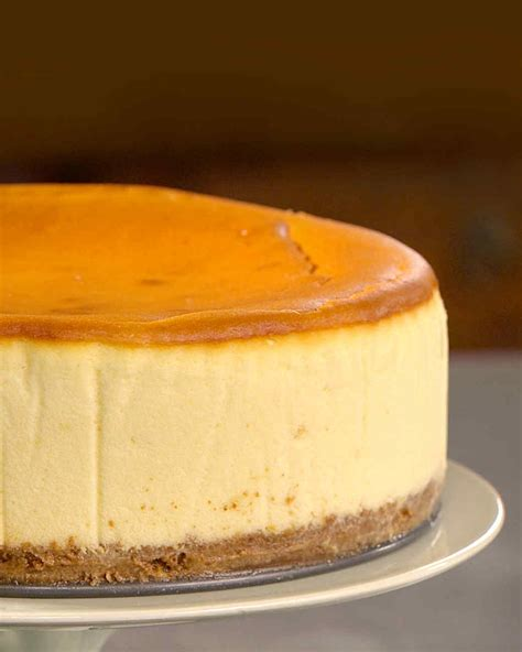 is ny style cheesecake refrigerated new york style cheesecake recipe martha stewart