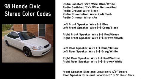 Honda Civic Stereo Wiring Color Codes