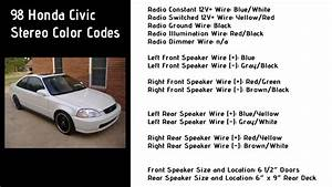 1998 Honda Civic Stereo Wiring Color Codes   6th Generation Honda Civic