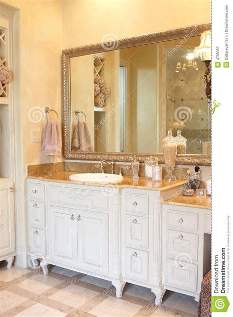 luxury bathroom counter top stock photo image