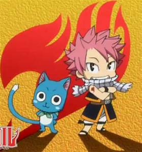 Chibi Happy and Natsu - Fairytail by brinababy66 on DeviantArt