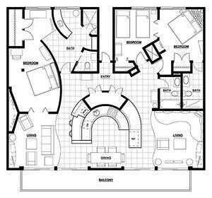 3, Bedroom, Condo, Floor, Plans